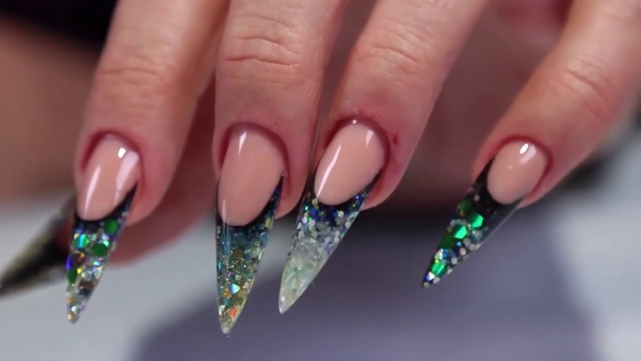 SHARP NAIL DESIGN 2019 - Perfectly Sculptured Acrylic Stiletto Nails