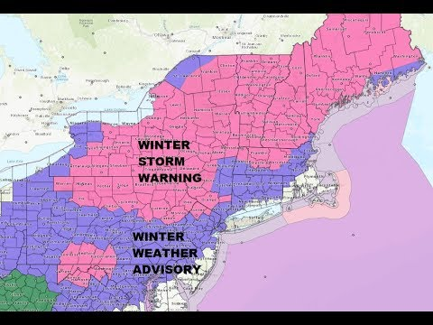 WINTER STORM WARNING ACROSS MUCH OF THE NORTHEAST. ADVISORIES FOR THE INTERIOR MIDDLE ATLANTIC