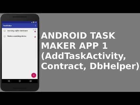 ANDROID TASK MAKER APP 1 (AddTaskActivity, Contract