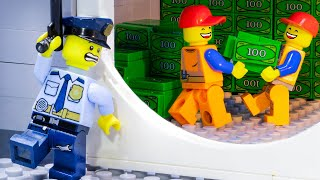 Lego City Bank Robbery: Secret Tunnel Of Cleaner - Lego Stop Motion