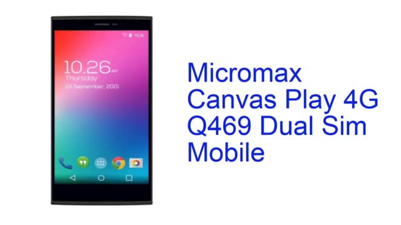 Micromax Canvas Play 4G Q469 Dual Sim Mobile Specification [INDIA]