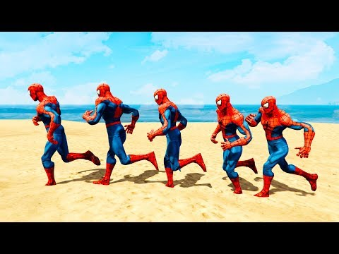 Thumbnail: FUN SUPERHERO RUNNING CONTEST Learn Colors for Children and Babies