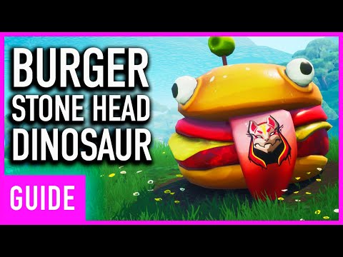 Fortnite - DurrBurger, Stone Head, And Dinosaur Location Guide | (Season 10 Week 1)