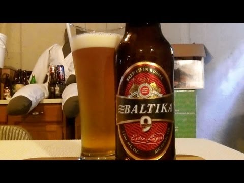 Baltika Breweries #9 Extra Lager (8% ABV High Gravity Lager) DJs BrewTube Beer Review #364