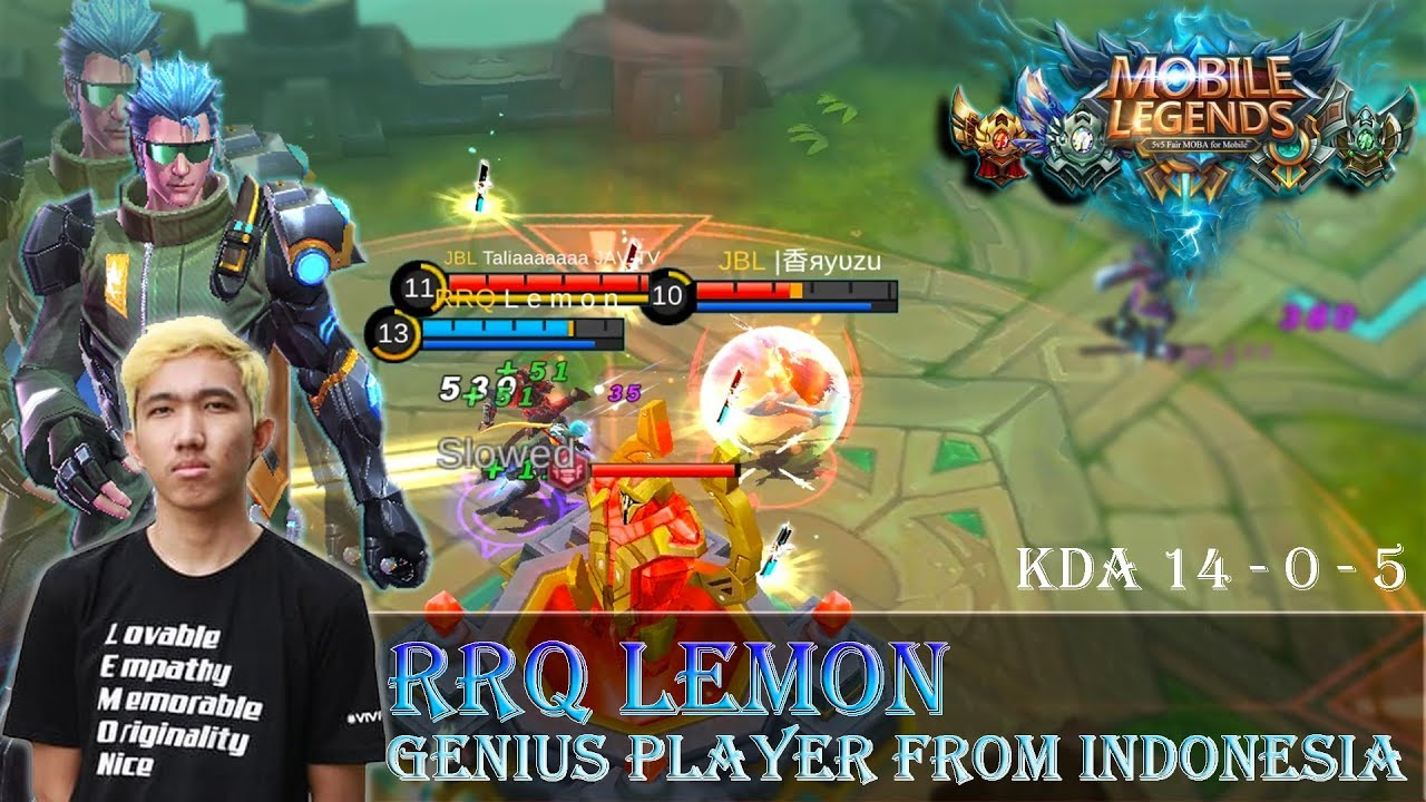 genius player from indonesia ! ( build & gameplay by rrq lemon ) - mobile legends bang bang