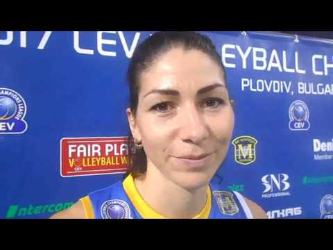 Interview with Maritza PLOVDIV team captain Radosveta Teneva after CL home premiere
