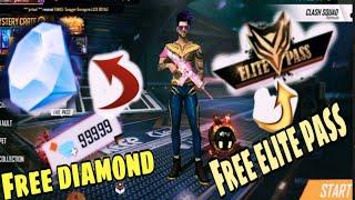 free fire free diamond and elite pass app  how to claim free diamond  and elite pass app