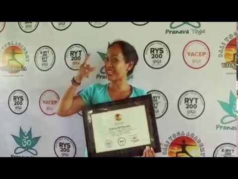 Testimonial YTTC 50hours Pranava Yoga with Putu Dwijendra