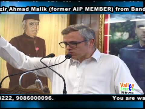A well Known Advocate Nazir Ahmad Malik former AIP MEMBER from Bandipora joins National Conference a