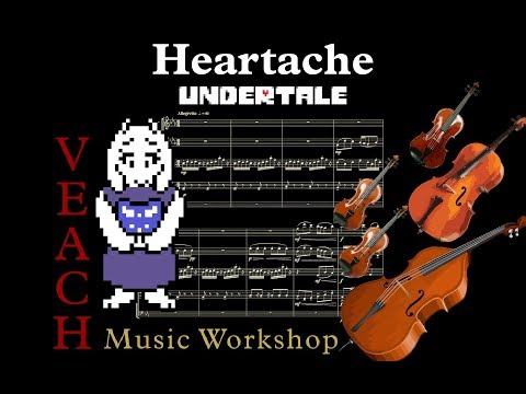 [Arrangement] Undertale: Heartache - String Quartet / Quintet (with Sheet Music)