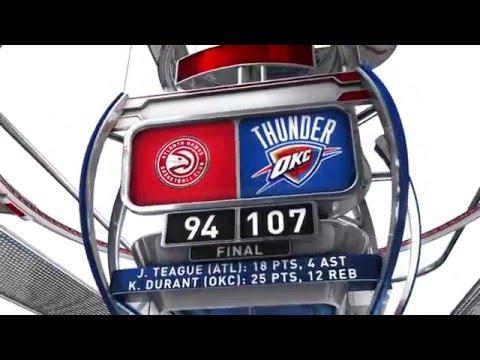 Atlanta Hawks vs Oklahoma City Thunder - December 10, 2015