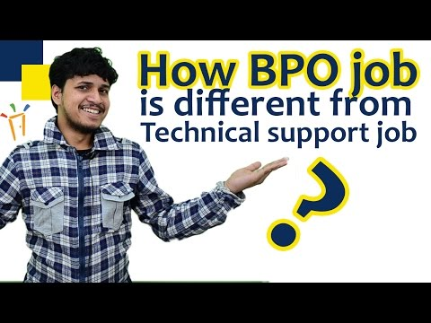 How Bpo job is different from a Technical support job ? - By Arunabha Bhattacharjee