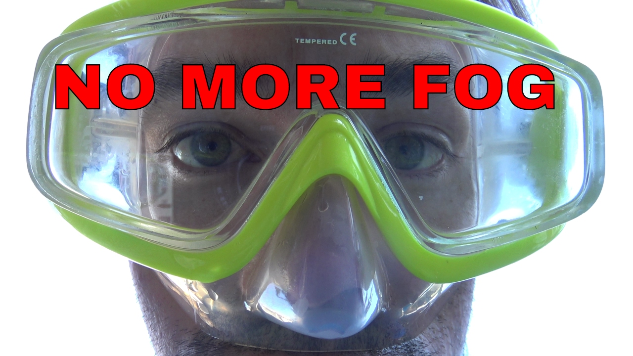 How to make your diving mask not fog