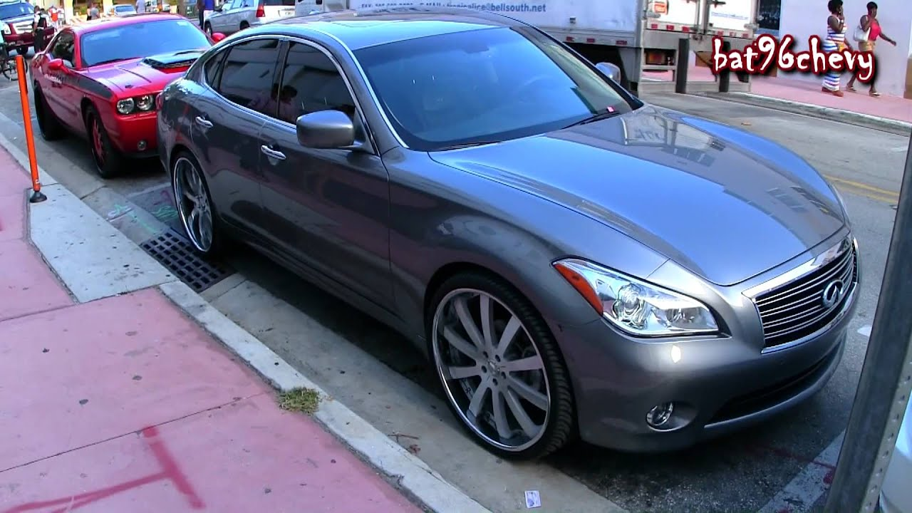 Infiniti M37 On 24 Quot Forgiato Staggered Wheels 1080p Hd