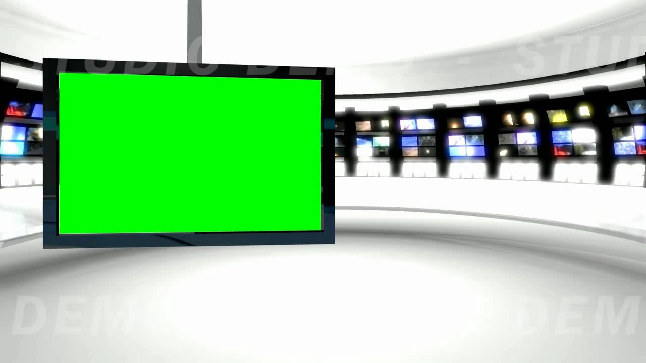 News Studio 9 Green Screen Background - YouTube