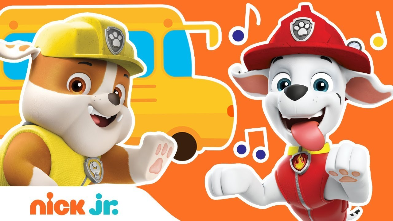 'Wheels On The Bus' PAW Patrol REMIX! 🚌 Back to School Sing Along | Nick  Jr