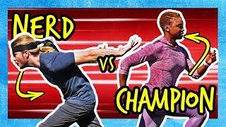Is Naruto Running FASTER? (vs. Gold Medalist Sprinter!)