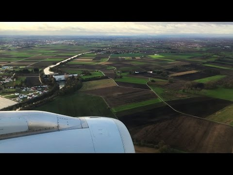 Landing at Munich Airport (MUC), Bavaria Germany - 4K