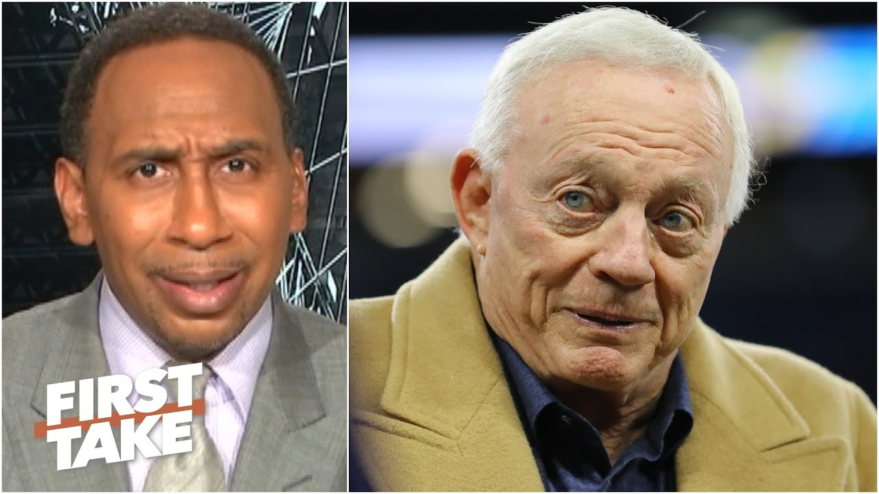 Stephen A. calls Jerry Jones' comments about kneeling during the anthem 'tone deaf' | First Take
