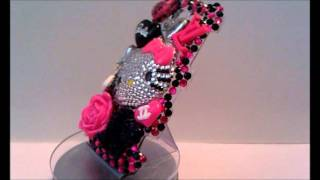 I'm A Diva Hot Pink & Black Theme Hello Kitty Bling Cover For My Touch 4G (Revised)
