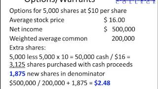 Intermediate Accounting:  Basic and diluted earnings per share