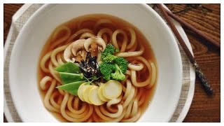 VEGAN Japanese UDON noodles ( HOMEMADE, LOW-FAT)