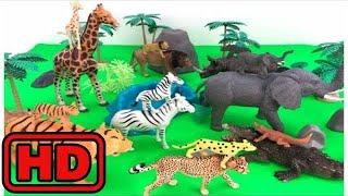 Kid -Kids -Learn Zoo Animals With Wild Animal Toys/Ice Cream Play Doh And Kinetic Sand/playing With
