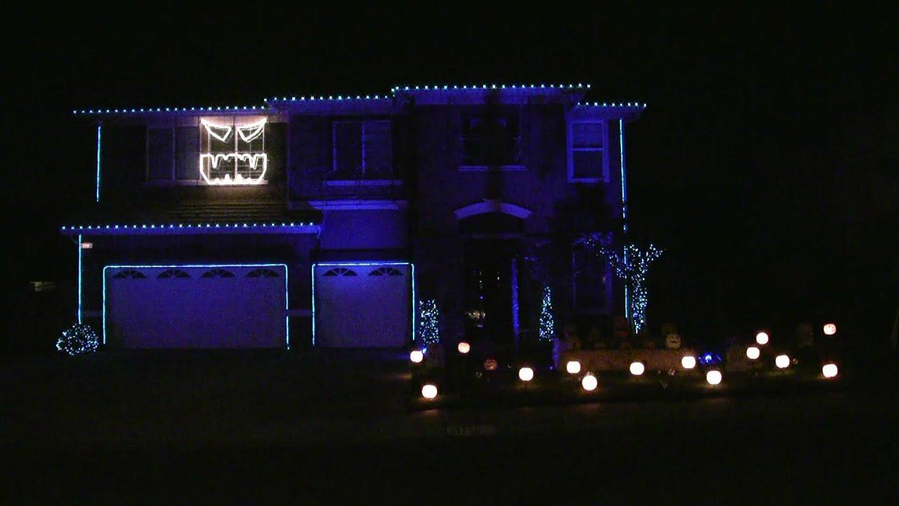 Halloween Light Show Nightmare Before Christmas