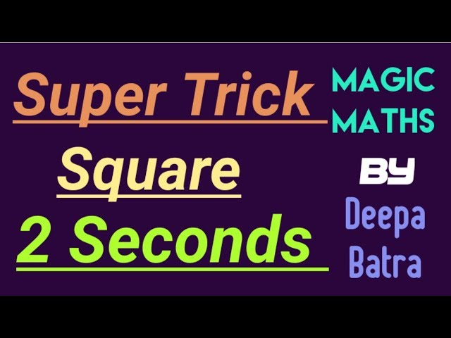 Super Trick to find the square of two digits number(whose last digit is 5) within just 2 Seconds