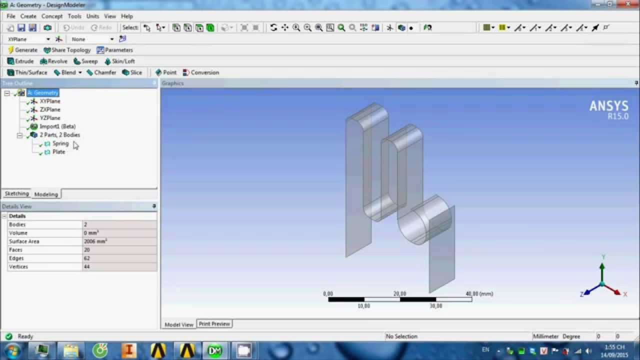 NTH - Turtorial ANSYS STATIC STRUCTURAL - Contact Spring & Plate