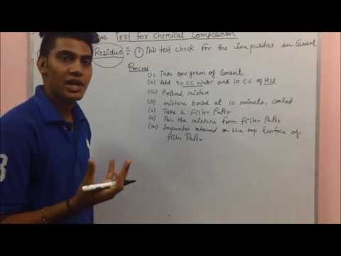 concrete making materials In hindi  (Test of cement 2. Test For Chemical Composition)