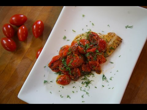 Quick Sautéed Fish & Tomatoes | SAM THE COOKING GUY Recipe