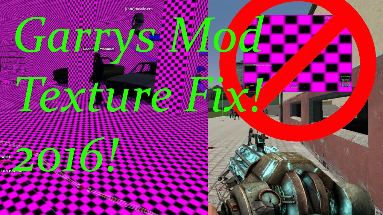 Garry's Mod Missing Textures Fix! 2019 Working!