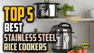 💥Top 5: Best Stainless Steel Rice Cookers Reviews of 2020 | Best rice cooker brand, Top Rice steamer