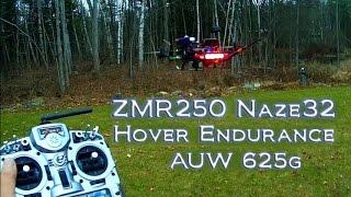 ZMR250 Naze32 Mini Quad - Hover Endurance Test with 1300 mah Lipo