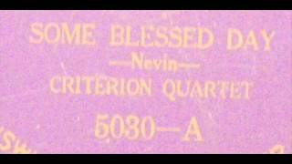Some Blessed Day - Criterion Quartet - Brunswick 5030A