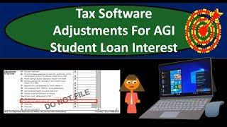 Tax Software Examples-Adjustments For AGI-Student Loan Interest