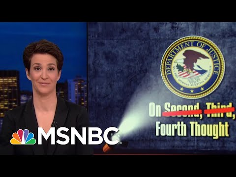New Reporting Suggests Strain Between William Barr And Mueller Team | Rachel Maddow | MSNBC