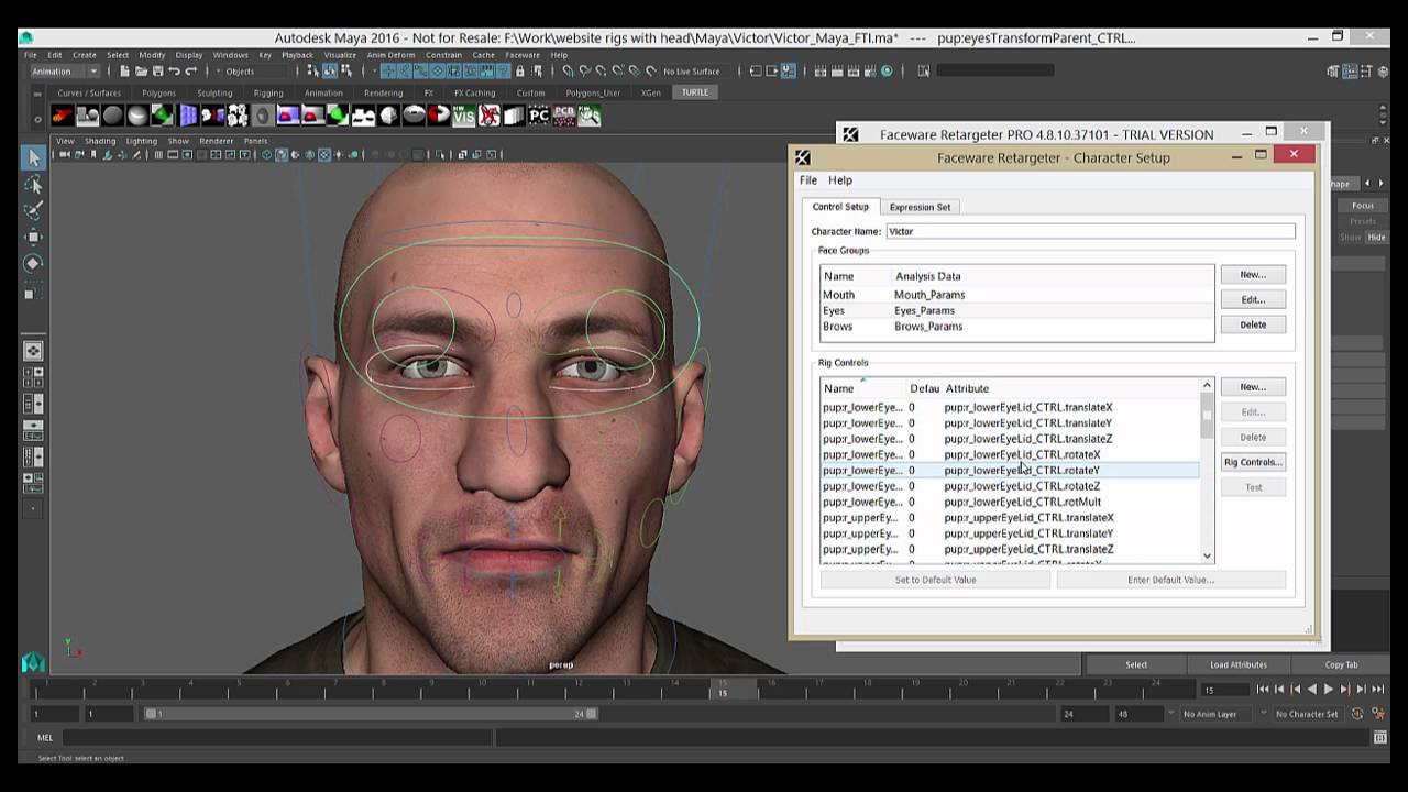 Step 1: Create a character setup xml file - Faceware