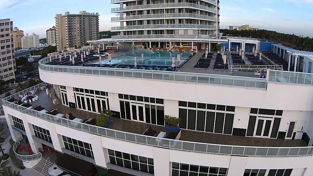Flying Over W Hotel Pool in Fort Lauderdale Pool - YouTube