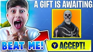 'If You Beat Me I Will Buy You Any Skin!' In Fortnite Battle Royale!
