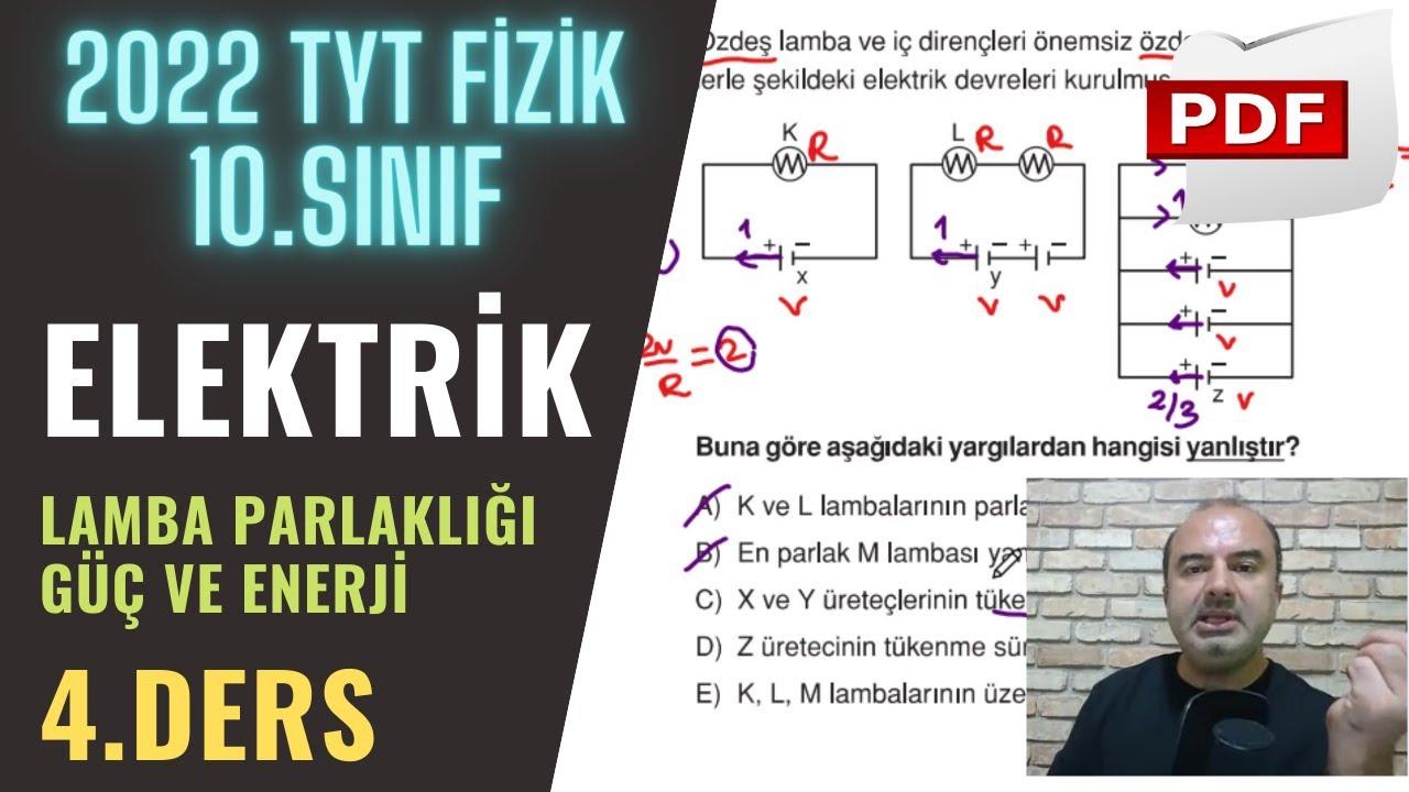 Elektrik | 4.Ders (10. Sınıf ve TYT)