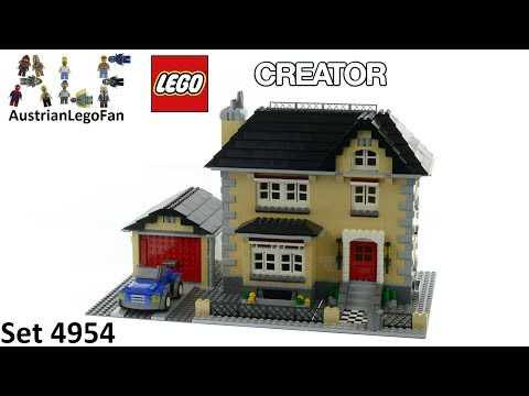 Lego Creator 4954 Model Town House - Lego Speed Build Review