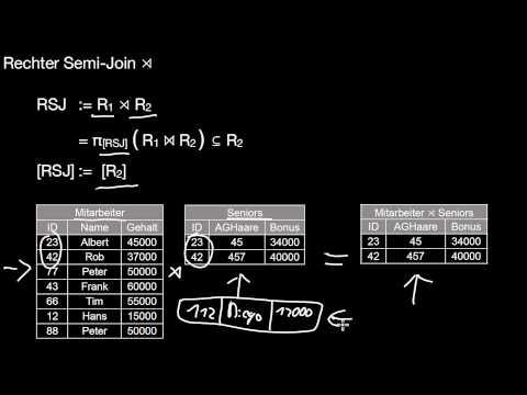 13.18b Relationale Algebra: Semi Joins, Anti Semi Joins
