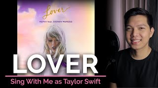 Lover (remix) (Male Part Only - Karaoke) - Taylor Swift ft. Shawn Mendes