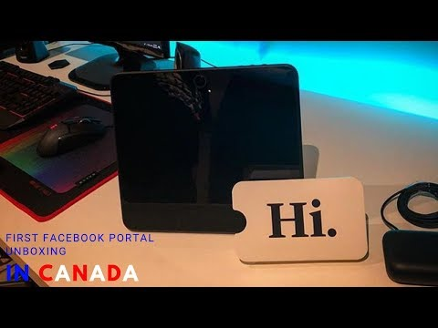 First Facebook Portal Unboxing In Canada