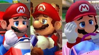 Evolution of Mario Kart Character's Losing/Fail Animations and Voice Clips (1992-2017)