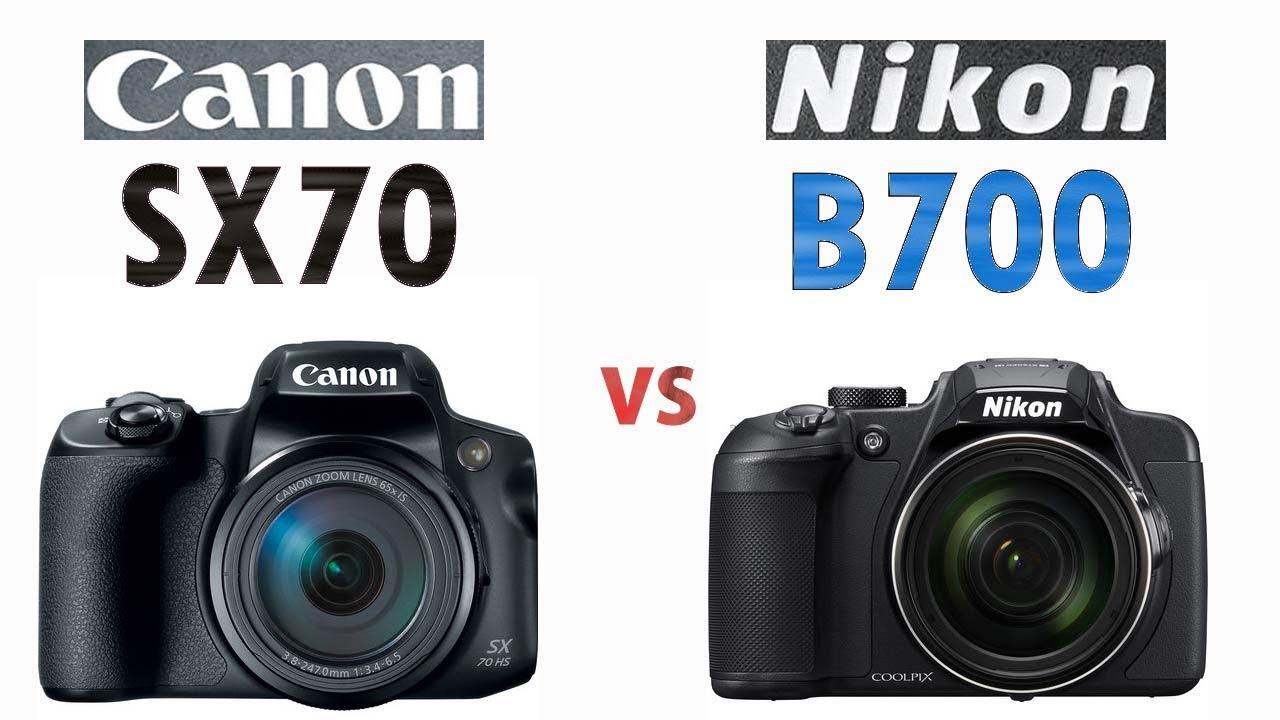 e17b106355 Canon SX70 HS vs Nikon B700 4K Super Zoom Cameras Comparison - YouTube