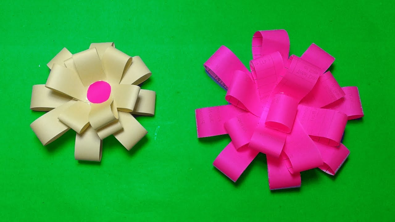 Paper Flowershow To Make Easy Paper Bow Gift Wrapping Simple Paper