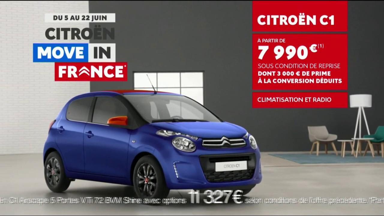 """Musique de la pub Citroën C1 – Move in France """"partez enfin pour de vrai""""  2021"""